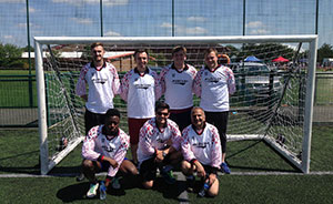 "DEICHMANN-Team beim ""Charity Football Cup"""